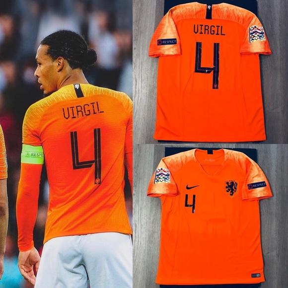 new styles 88eb6 503f9 Virgil Van Dijk #4 nike Soccer Jersey Nederland NWT